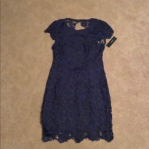 Lulu's Backless Dress-Navy